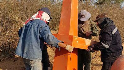Colocan  hitos en frontera que comparten Paraguay y Bolivia