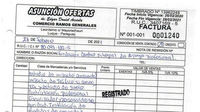 Contador informó que entregó factura anulada ante la SET