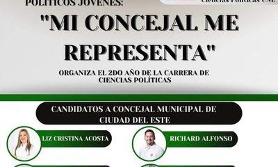 Organizan conversatorio entre políticos jóvenes «Mi concejal me representa»