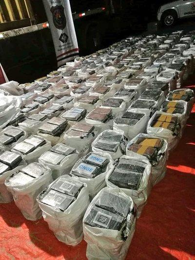 Incautaron más de tres toneladas de cocaína en Fernando de la Mora
