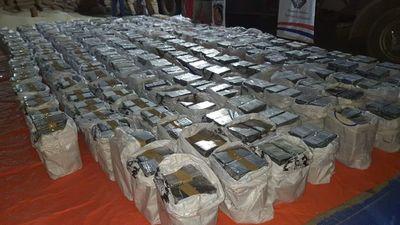 3.400 kilos de cocaína incautada en Fernando de la Mora, nuevo récord
