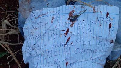 """""""Justicieros de la frontera"""" raptan y asesinan a joven en Pedro Juan"""