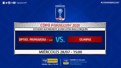 Olimpia se estrena en la Copa Paraguay ante Deportivo Primavera