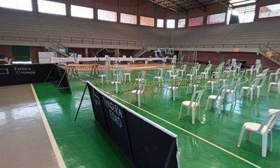 Polideportivo de CDE retorna mañana con vacunación de segunda dosis