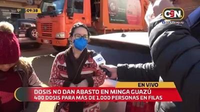 Vacunas anticovid no dan abasto en Minga Guazú