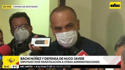"""""""Bachi"""" asegura que acusaciones hacia Hugo Javier son parte de una """"persecución política"""""""