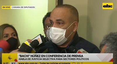 Hugo Javier es víctima de persecución política, según Bachi