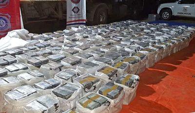 Las cinco mayores incautaciones de cocaína en Paraguay