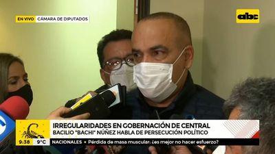 """Bachi preocupado """"por justicia selectiva"""" y """"persecución política a Hugo Javier"""""""
