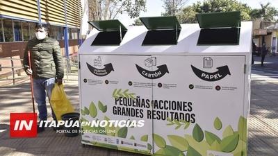 INTENDENTE DE ENCARNACIÓN RECIBE ECOPUNTOS DE RECICLAJE.