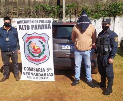 Policía Nacional recupera automóvil hurtado en el Brasil