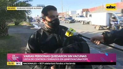 MRA: Varias personas quedaron sin vacunarse