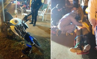 Motociclista resultó lesionado tras chocar contra un furgón