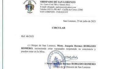 Diócesis de San Lorenzo aclaró que no exigirán carnet de vacunación para asistir a la misa