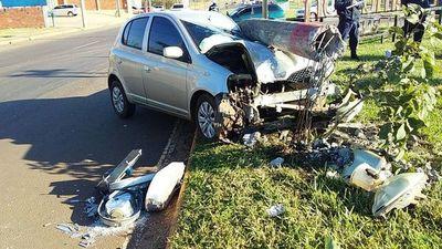 Aparatoso accidente rutero en Encarnación