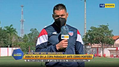 Jorge Brítez habla en Tigo Sports Noticias