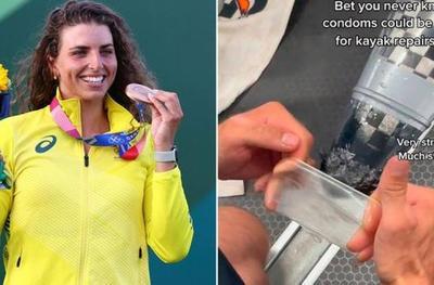 ¡Ingeniosa! Lo que usó la piragüista australiana para reparar su kayak y ganar el bronce