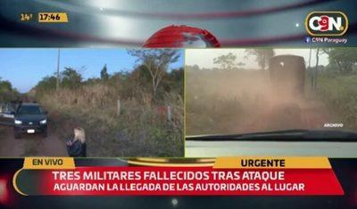 Atentado con explosivos deja tres militares fallecidos
