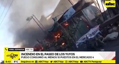 Fuego consume 10 casillas en el Paseo de los Yuyos