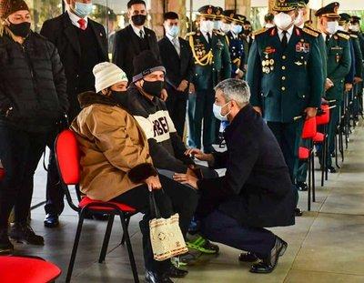 Abdo extiende sus condolencias a familiares de militares caídos en el norte