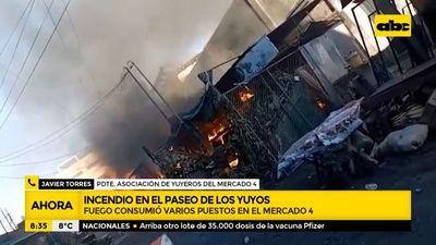 Incendio consumió varias casillas del Paseo de los Yuyos