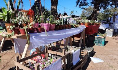 Emprendedores realizan feria por el Día de la Amistad en Coronel Oviedo
