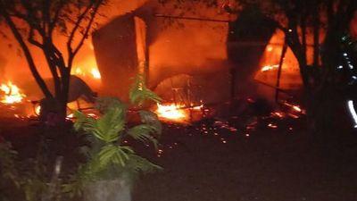 Incendian casa tras homicidio en Ypané