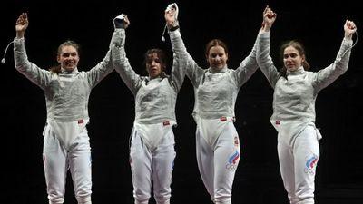 Las esgrimistas rusas ganan el oro en sable por equipos en Tokio 2020