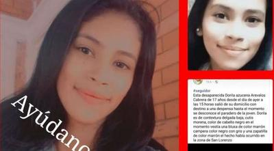 Piden ayuda para localizar a menor desaparecida en San Lorenzo – Prensa 5