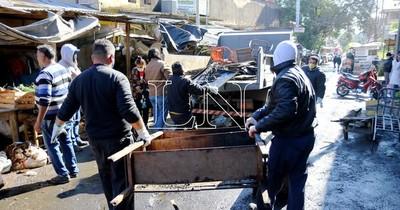 La Nación / El día después del incendio en el Paseo de los Yuyos