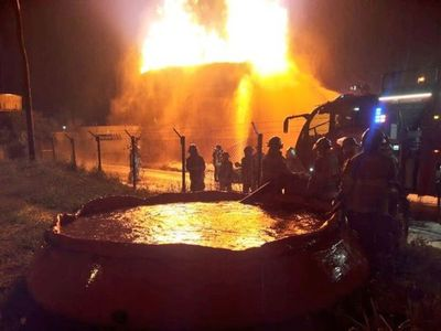 Petropar cobró G. 14.701 millones de póliza por el incendio