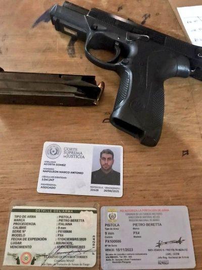 Abogado de preso por megacarga trató de entrar con pistola y municiones a sitio de reclusión