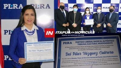 ITAPUENSE DEL PILAR VAZQUEZ CABRERA LLEGA AL DIRECTORIO DEL PLRA.