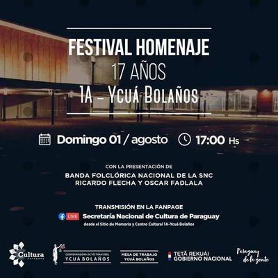 Con un festival rendirán homenaje a las víctimas de la tragedia del Ycuá Bolaños