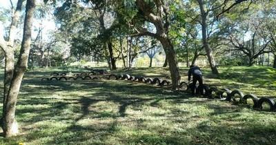 La Nación / En Ayolas reciclan neumáticos para reducir potenciales criaderos de mosquitos