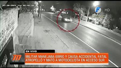 Militar alcoholizado causa fatal accidente de tránsito en Ñemby