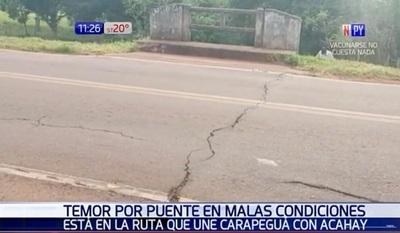 Puente en mal estado causa temor en pobladores de Carapeguá