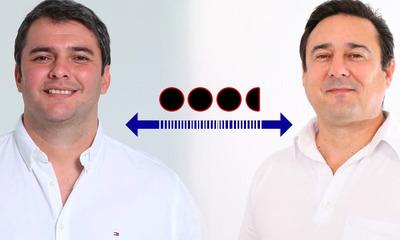 Ajustado margen de 3.5 puntos de diferencia entre Marcos Benítez y Antonio Buzarquis