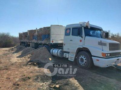 Senad detecta camión con precursores químicos en predio militar