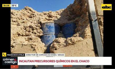 Incautan precursores químicos en el Chaco