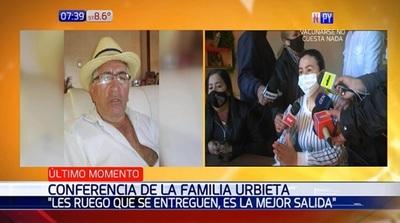 Hijas de Félix Urbieta piden dejar las armas a los captores de su padre