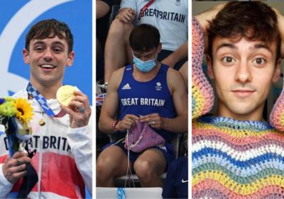 Este campeón olímpico teje para aliviar el estrés e impulsar la solidaridad
