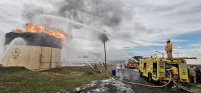 Patria y Yacyreta indemnizan a Petropar por G. 14.701 millones por incendio en la planta de Villa Elisa