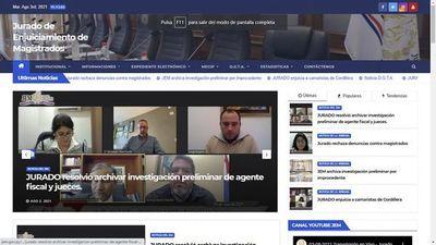 JEM presenta página web más transparente para acercarse a los usuarios de justicia, aseguran