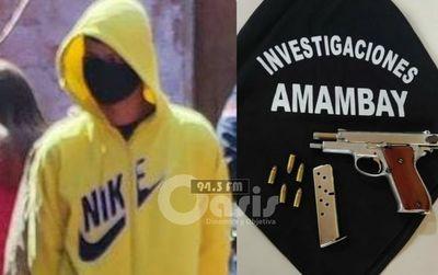 Arma incautada durante allanamiento en Pedro Juan fue utilizado en crímenes de Guardía cárceles.