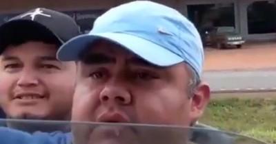 """La Nación / """"Piquetero"""" y concejal liberal amenazó a trabajadores en protesta de camioneros"""