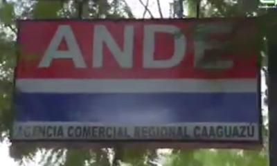 Asaltan oficina de la ANDE de Caaguazú