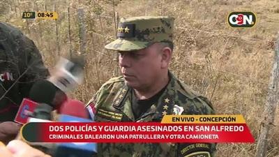 Dos policías y guardia privado fueron asesinados en Concepción