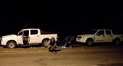 Hallan vainillas percutidas de cuatro armas en el lugar del ataque a patrullera en San Alfredo
