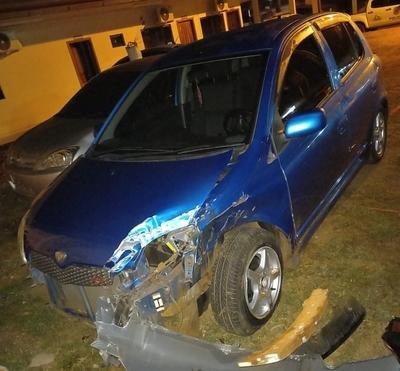 Choque de vehículos deja daños materiales en Hernandarias